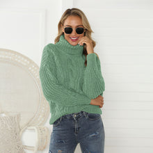 Load image into Gallery viewer, Women Fashion High Collar Pullover Sweater (4369645076620)