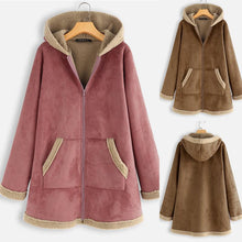 Load image into Gallery viewer, Long Sleeve Plus Velvet Deer Hooded Casual Cotton Coats(M-5XL) (4370027774092)