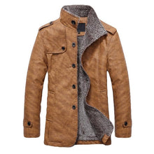 Load image into Gallery viewer, Men Winter Jackets PU Leather Motorcycle Fur Coat (4369912496268)