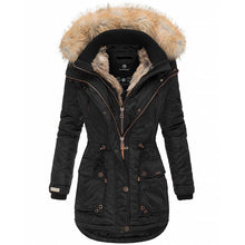Load image into Gallery viewer, Women Slim Fit Down Coat & Fur Collar (4370002215052)