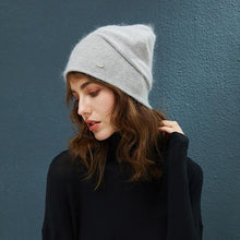 Load image into Gallery viewer, Women Fashion Rabbit Hair Winter Knitted Hat (4369619189900)