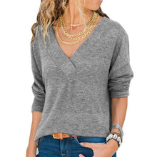 Load image into Gallery viewer, Women Autumn Sweaters Casual V-Neck Pullovers (4369716740236)