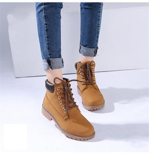 Winter Leather Lace Up Warm Ankle Snow (4369977999500)