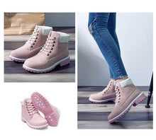 Load image into Gallery viewer, Winter Leather Lace Up Warm Ankle Snow (4369977999500)