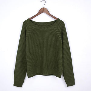 Women Autumn Winter Fashion Knitted Sweater (4369644912780)