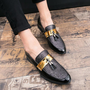 Men Formal Patchwork Shoe PU Leather Casual Flats (4369982947468)