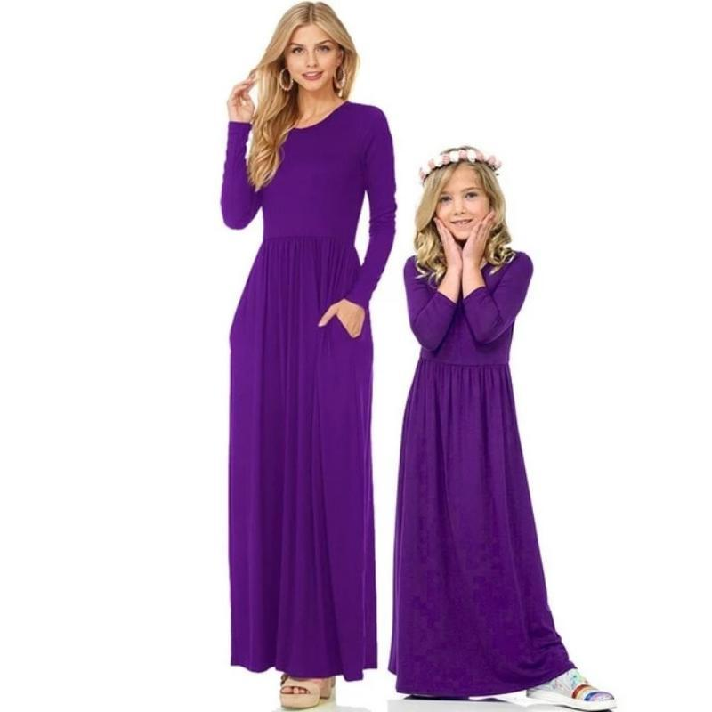 Mother Daughter Family Matching Dress (4370147999884)