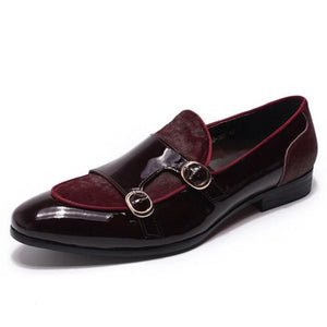 Men Casual Strap Loafers Banquet Dress Shoes (4369983570060)