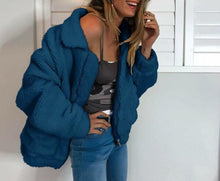 Load image into Gallery viewer, Women Fleece Jacket Coats Autumn Outerwear Plus Size (4369622368396)