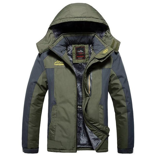 Winter Men Jacket Thick Warm Waterproof Hooded Parka Coat (4369912201356)