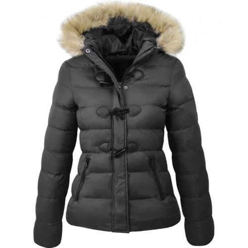 Women Parka Coat Slim Fit Short Jacket (4370006016140)