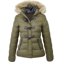 Load image into Gallery viewer, Women Parka Coat Slim Fit Short Jacket (4370006016140)