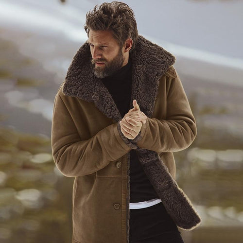 Men Winter Jacket Solid Warm Coat (4369817895052)