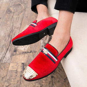 Men Loafers Leather Luxury Shoes Breathable (4369985405068)
