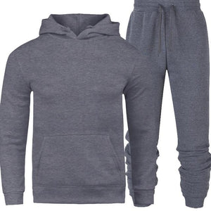 Men Tracksuit Outerwear Hoodies Pants Set (4369752719500)