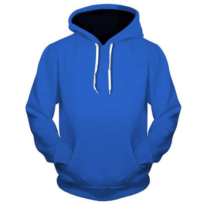 3D Solid Color Hoodies Plus Size (4369726046348)