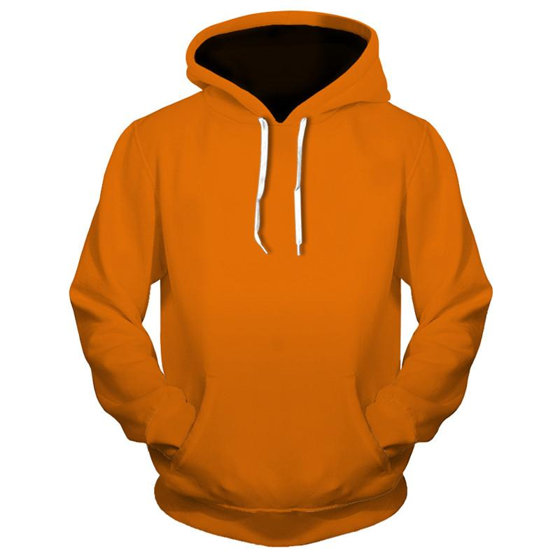 3D Hooded Sweatershirts Solid Color (4369725915276)