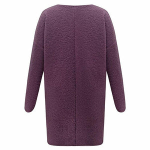 Women Casual Winter Thick Warm Cardigan (4369636622476)
