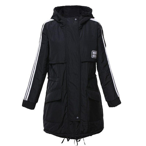 Loose Winter Hooded Fashion Padded Parka Coat (4370004246668)