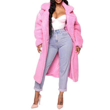 Load image into Gallery viewer, Pink Long Teddy Jacket Coat Oversize Chunky Outerwear (4370037014668)