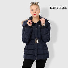 Load image into Gallery viewer, Winter Women Windproof Belted Thick Coat (4370006737036)