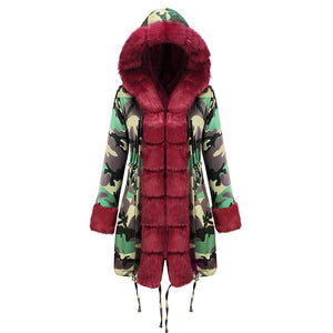 Solid Color Hooded Warm Winter Coat (4369999593612)