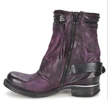 Load image into Gallery viewer, Women Belt Buckle Motorcycle Boots Thick Heel (4369964761228)