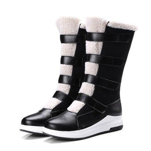 Women Suede Snow Boots Thickened Plush Shoes (4369961746572)