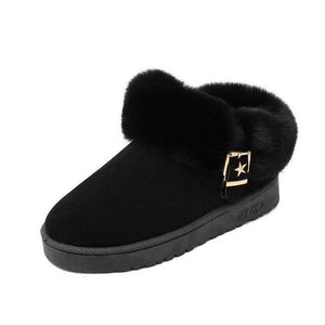 Women Warm Shoes Plus Size Faux Fur Ankle Boots (4369962434700)