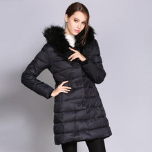Load image into Gallery viewer, Women Fuzzy Collar Long Parka Winter Coat (4365971947660)