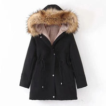 Load image into Gallery viewer, Women Winter Drawstring Hooded Warm Coat (4370006671500)