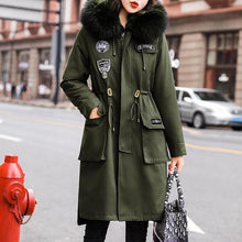 Load image into Gallery viewer, Winter Women Drawstring Warm Faux Fur Coat (4370006442124)