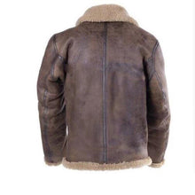 Load image into Gallery viewer, Men Suede Leather Jacket Thicken Fleece Warm Coat (4369915183244)
