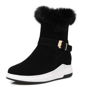 Winter Snow Boots Women Warm Shoes Platform Wedges (4370172641420)