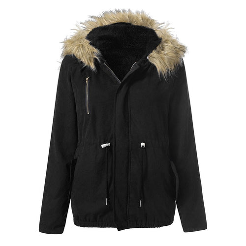 Casual Fashion Warm Hooded Parka Faux Fur (4370141872268)