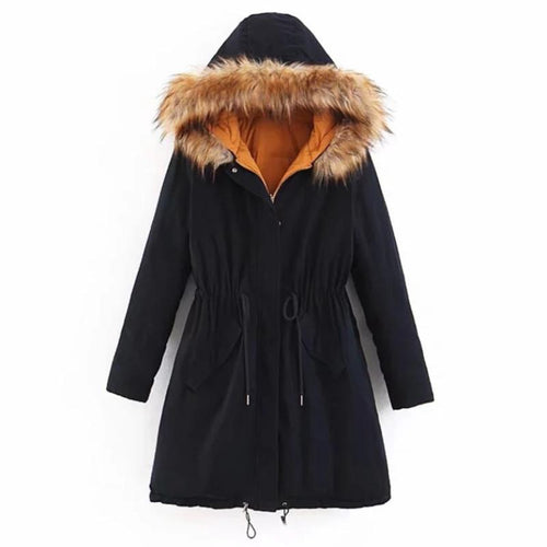 Fashion Double-sided Fur Collar Winter Coat (4370001690764)