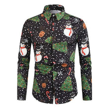 Load image into Gallery viewer, Funny Printed Men Christmas Party Shirt (4370146263180)