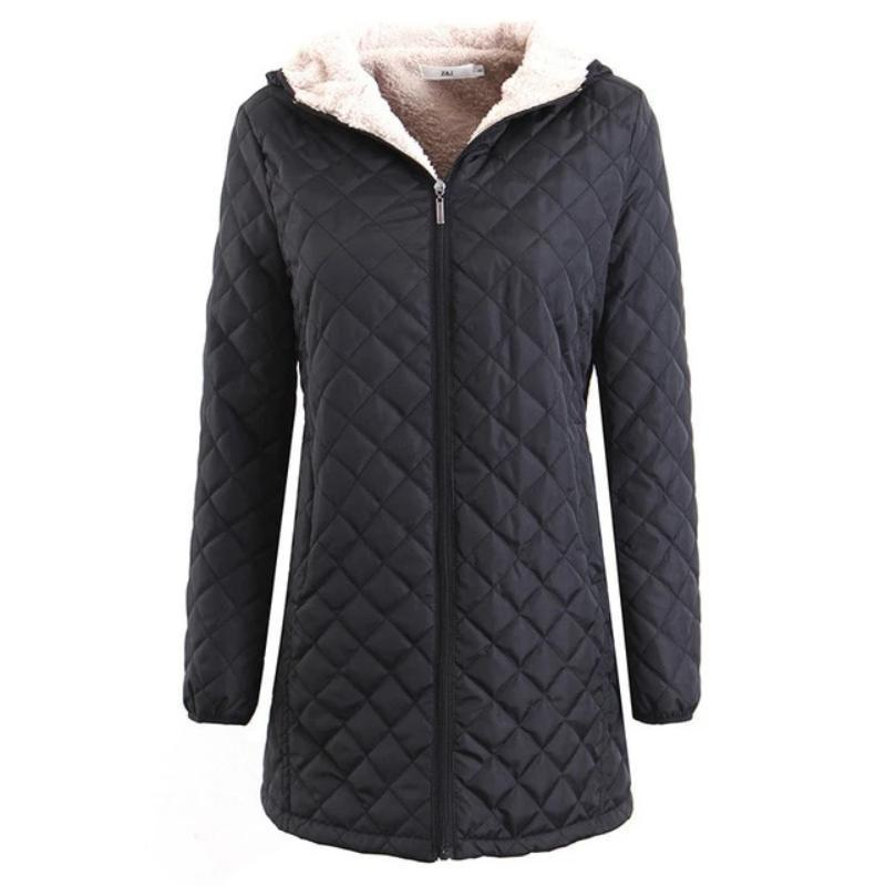 Women 5 Color Hooded Coats Plus Size (4369999167628)