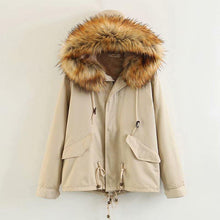 Load image into Gallery viewer, Women Loose Drawstring Short Hooded Parka Coat (4370021187724)