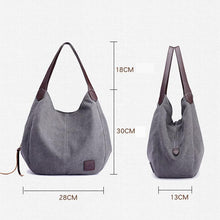 Load image into Gallery viewer, Women Canvas Handbag Multi-pocket (4369621123212)