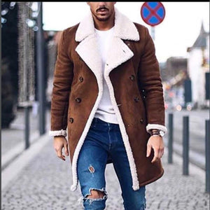 Men Wool Warm Winter Trench Outwear Windproof Jacket (4369915510924)