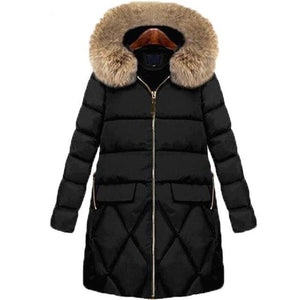 Women's Hooded Parka Coat (4365974962316)