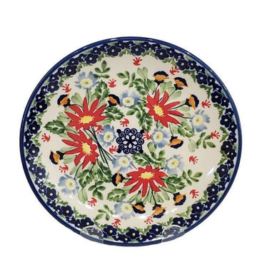 Polish Pottery Luncheon Plate Wild Flower