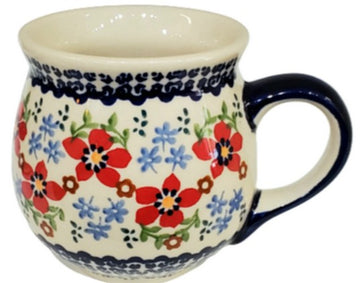 Polish Pottery Country  Garden  Ladies  Mug