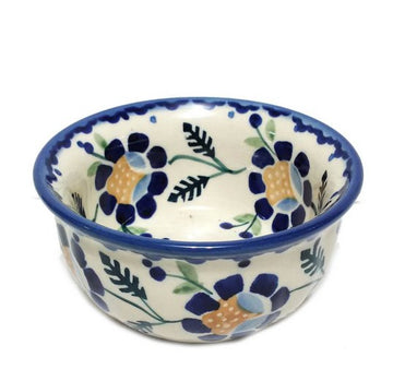 Polish Pottery Blue Daisy Snack bowl