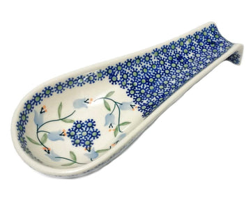 Polish Pottery Trailing Lily Spoon Rest