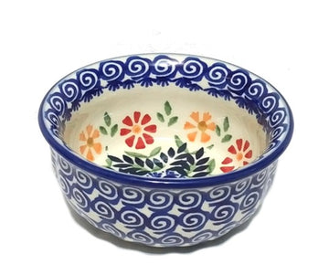 Polish Pottery Spring Morning Snack Bowl