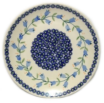 Polish Pottery Trailing Lily Luncheon Plate
