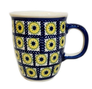 Polish Pottery Sunflower Bistro  Mug