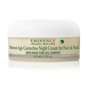 Monoi Age Corrective Night Cream for Face & Neck - Eminence Organic Skincare